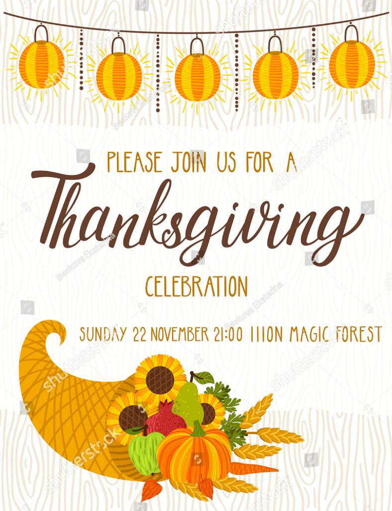 14 thanksgiving invitation designs design trends premium psd thanksgiving invitation pronofoot35fo Choice Image