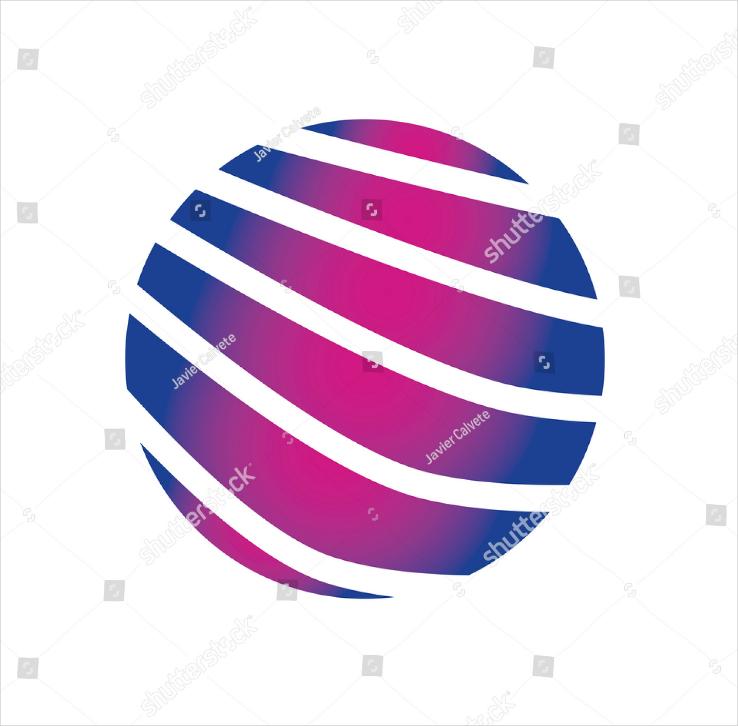 Abstract Globe Brand Logo Design