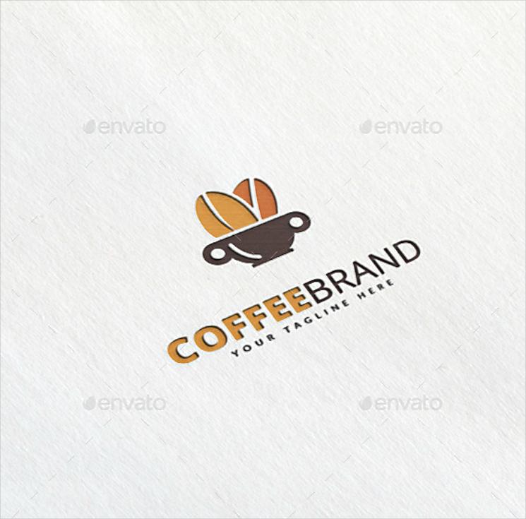 Coffee Beans on Mug Brand Logo Design