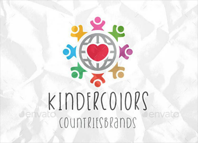 Colorful Kids Community Brand Logo Design