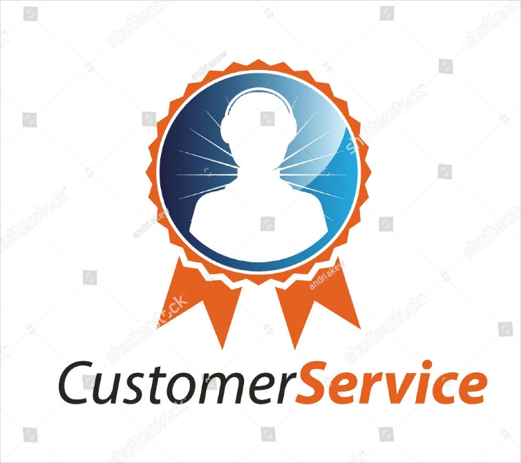 Customer Service Badge Personal Logo Design