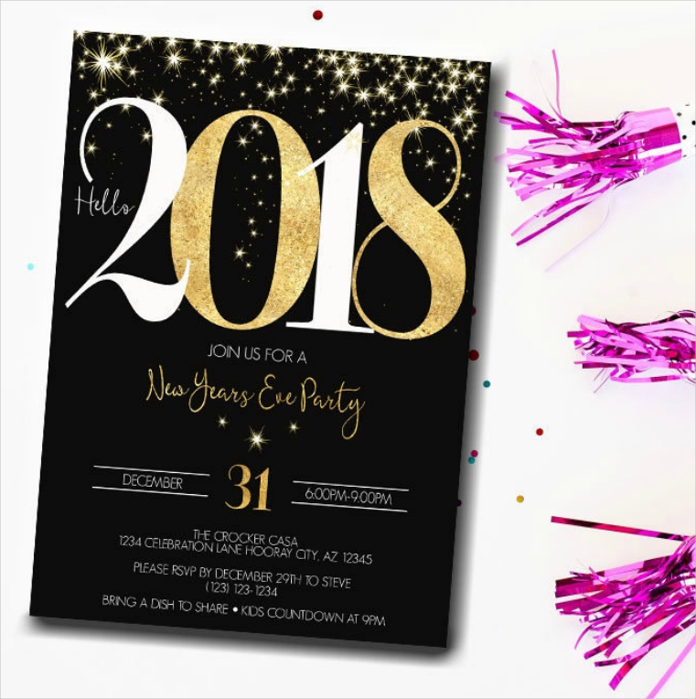 Dazzling New Year's Eve Party Invitation Design