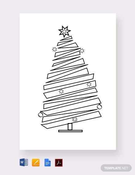 free blank christmas tree template
