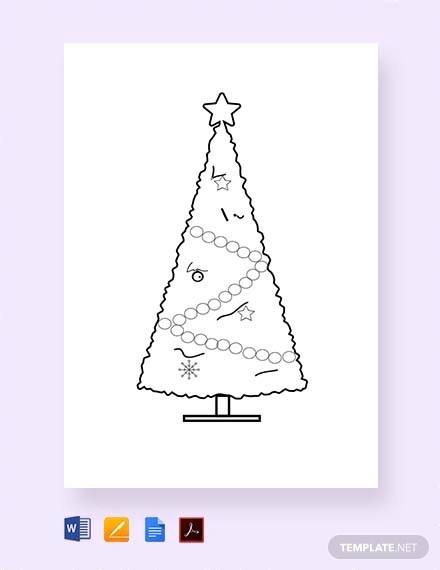 free small christmas tree template