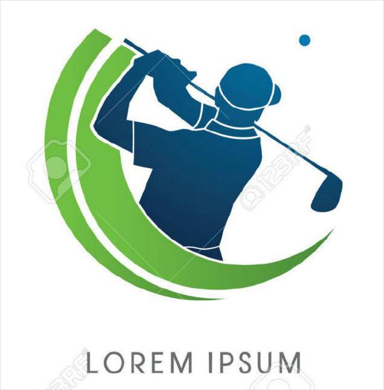 Golf Swing Brand Logo Design