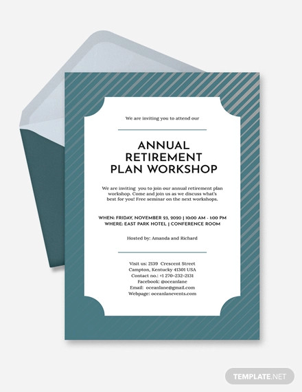 retirement invitation design