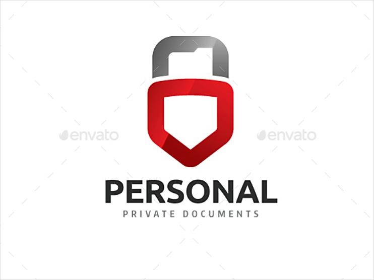 Shield Lock Personal Logo Design