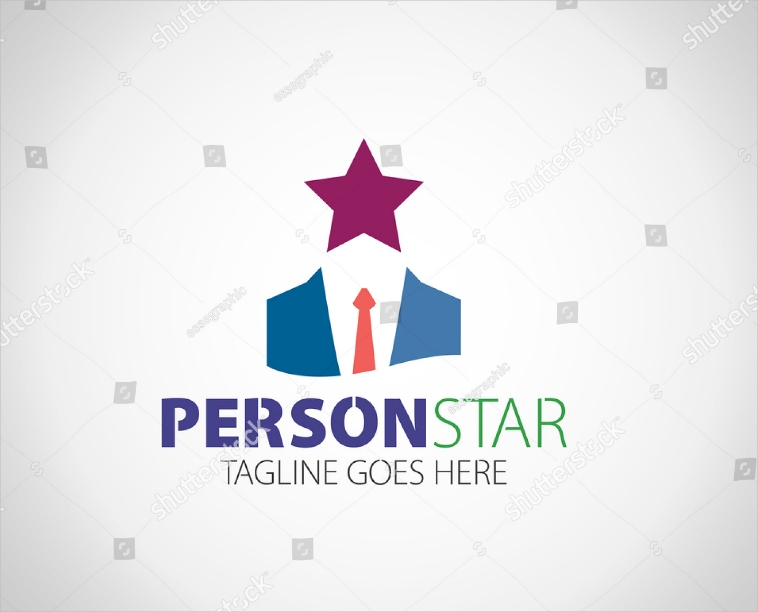 Star Head Personal Logo Design