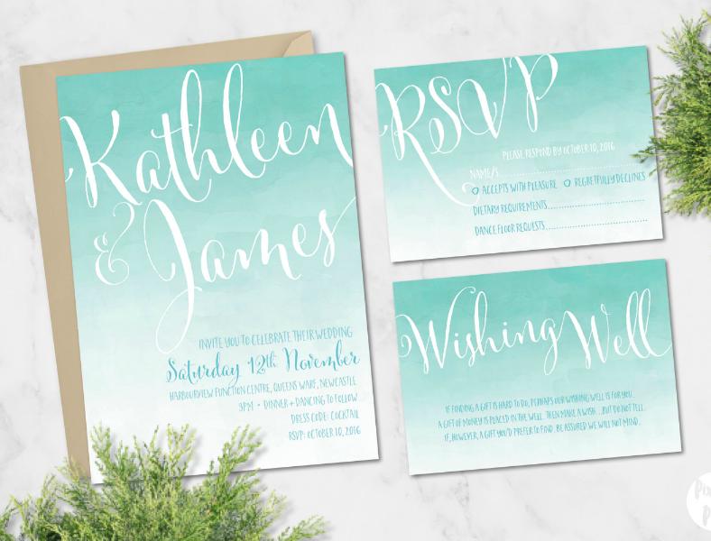 diy wedding invitation stationery
