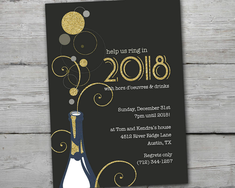 New Year's Eve Invitation