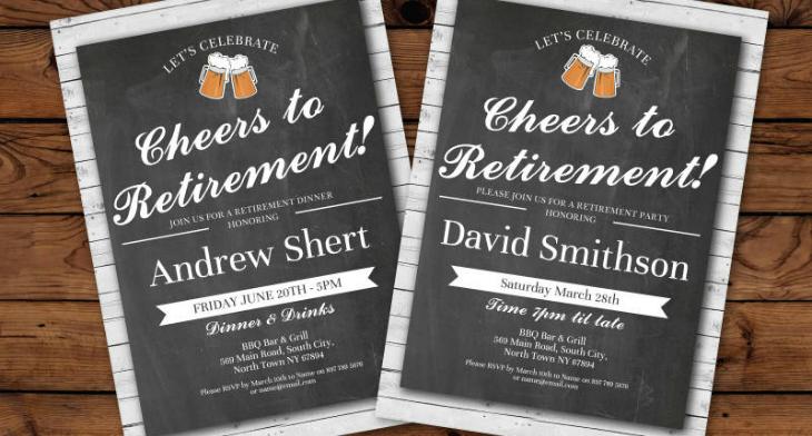 17 retirement invitation designs design trends premium psd 18 retirement invitation designs stopboris Images