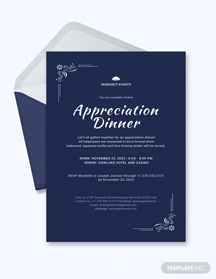 31+ Dinner Invitation Designs - PSD, Word, AI | Design ...