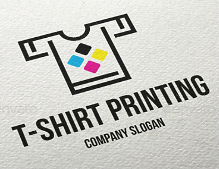 colorful shirt printing company logo design