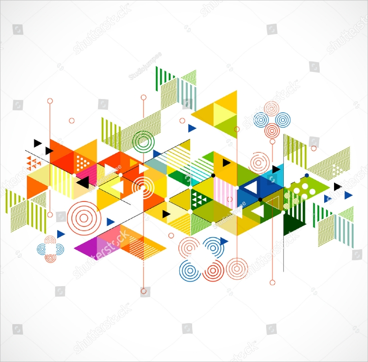Colorful Triangle Abstract Illustration Design