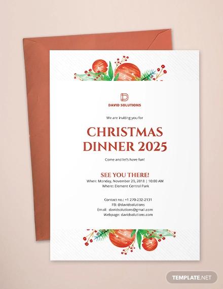 corporate christmas dinner