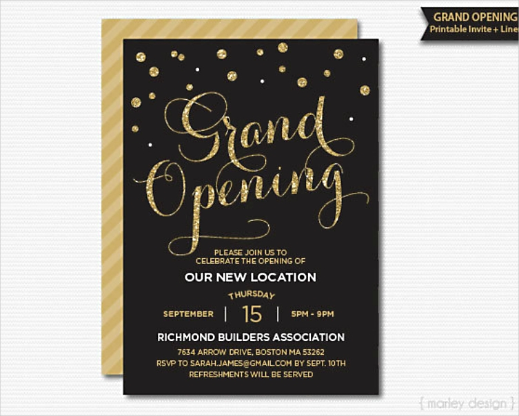 Grand Opening Event Corporate Invitation Design
