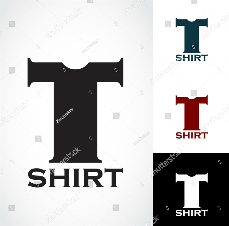 letter shaped t shirt logo design