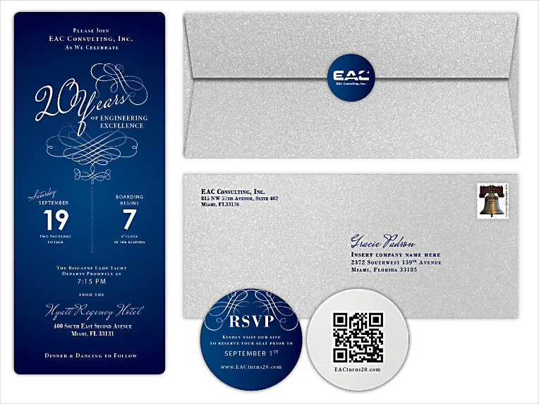 Modern Elegant Corporate Invitation Design