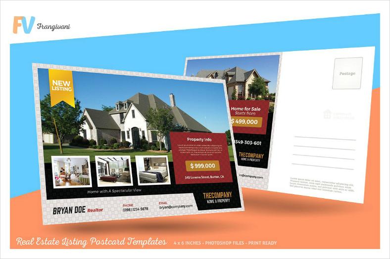 Photo Collage Real Estate Postcard Design