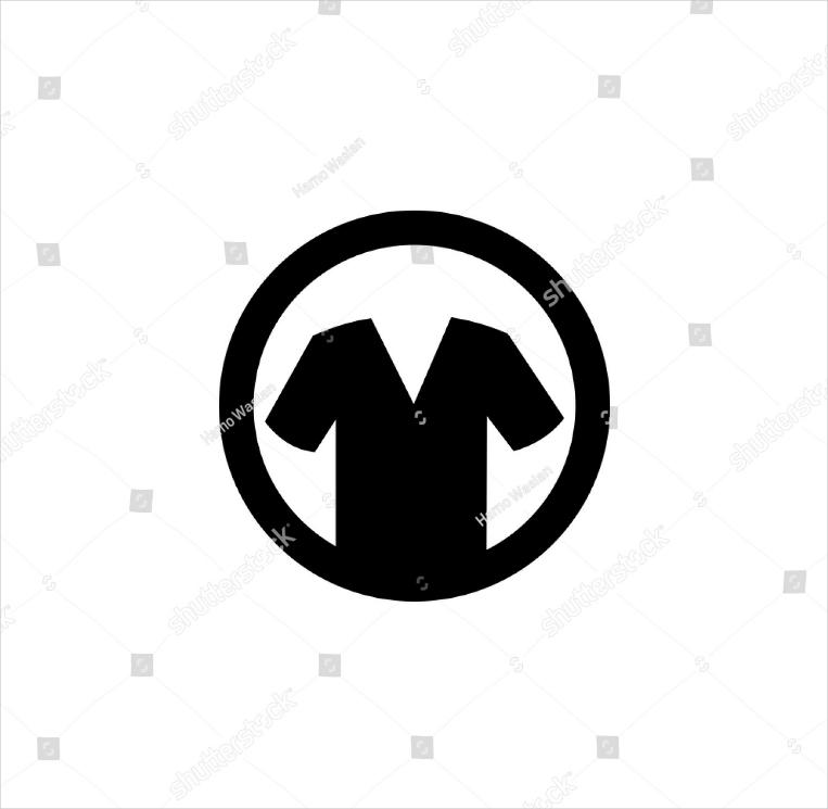Round Border Solid Shirt Logo Design