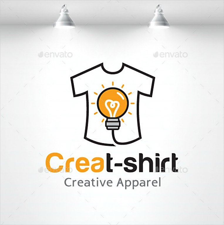 stock light bulb creative shirt logo design