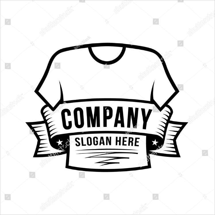 text ribbon shirt vector logo design1