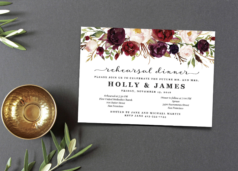 Dinner Invitation Design