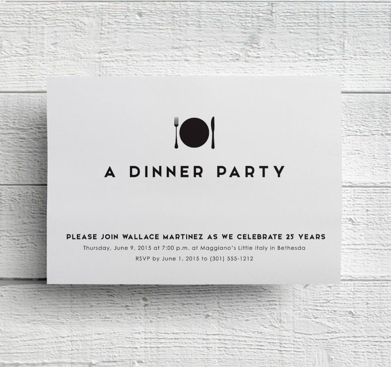 Dinner Invitation Design