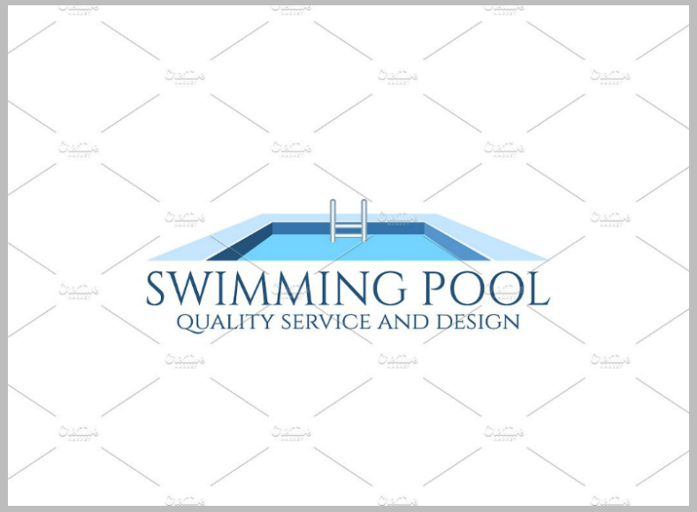 15 pool logo designs design trends premium psd for Pool design logo