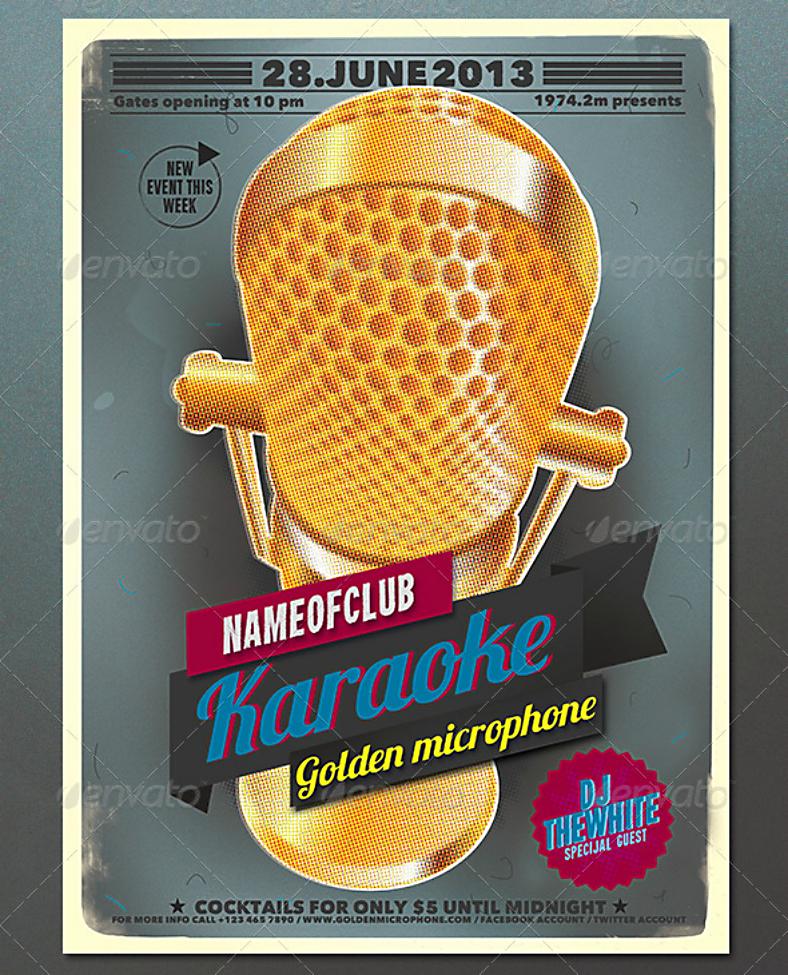 Karaoke Poster Design