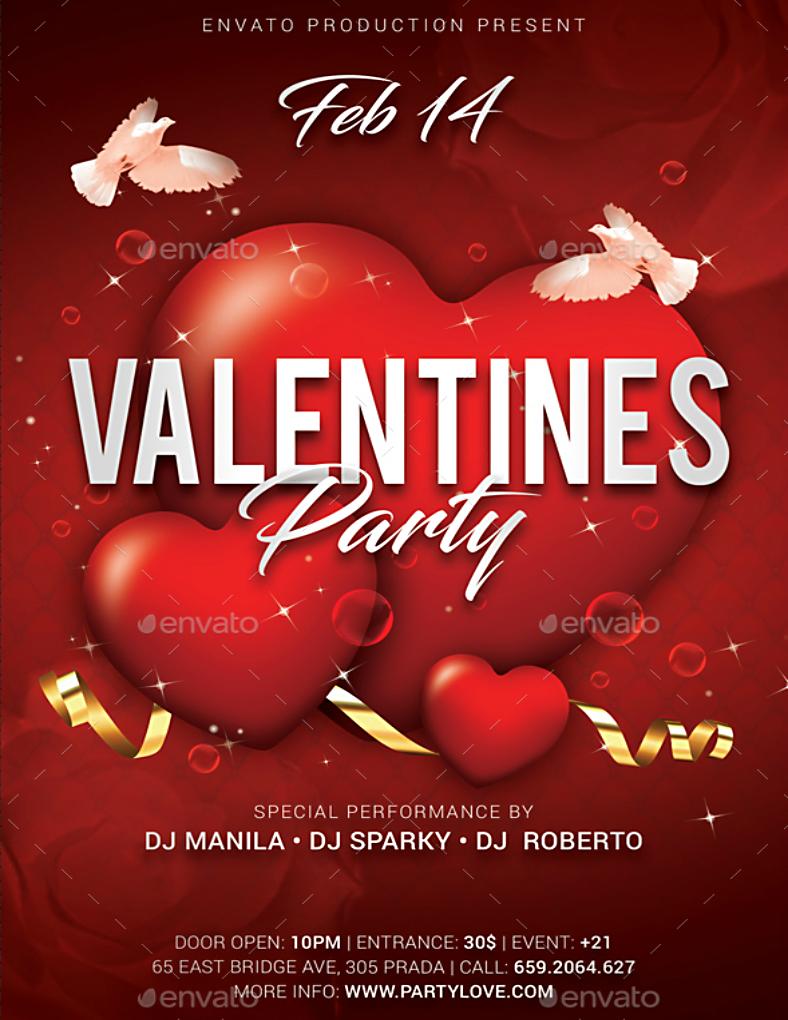 15 Valentine S Day Poster Designs Design Trends Premium Psd