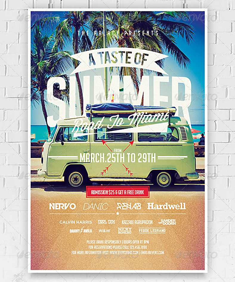 Summer Flyer Design
