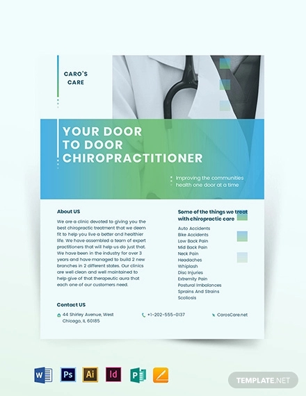 chiropractor flyer