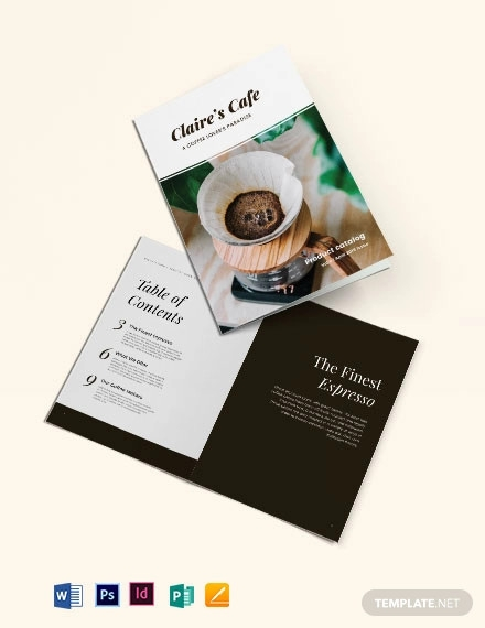 free coffee product catalog template