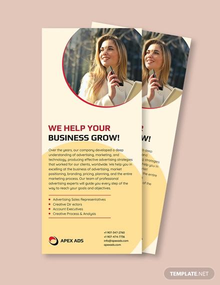 advertising consultant rack card