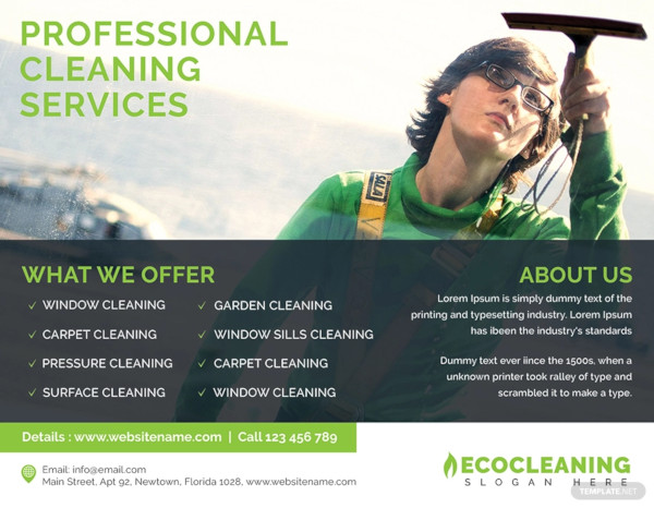 commercial cleaning service flyer template
