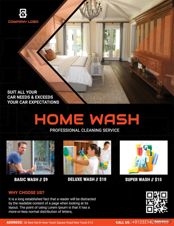 free home cleaning service flyer
