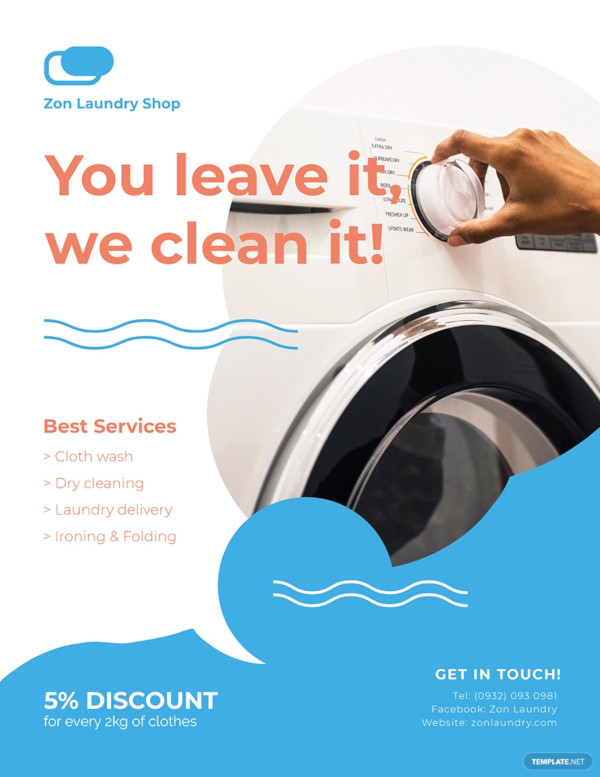 laundry flyer example