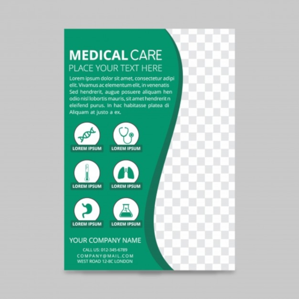 Medical care flyer design