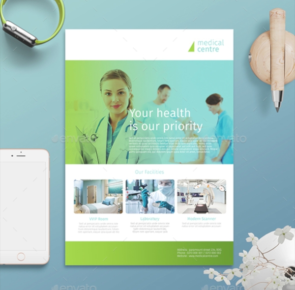 Minimalist Hospital Flyer Design