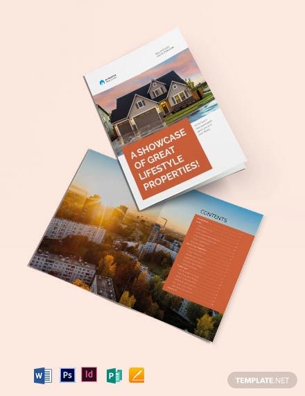 real estate catalog template