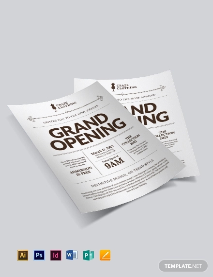 store opening flyer template