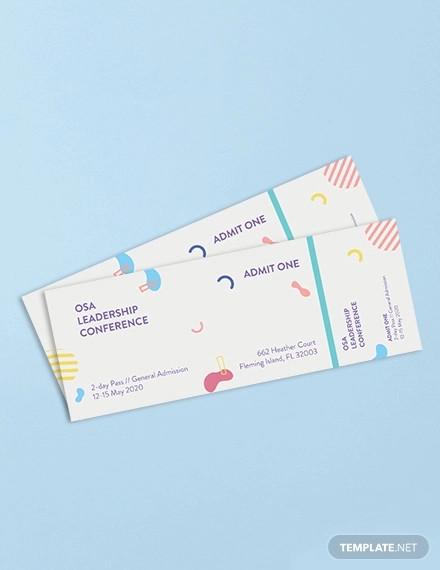 blank ticket template