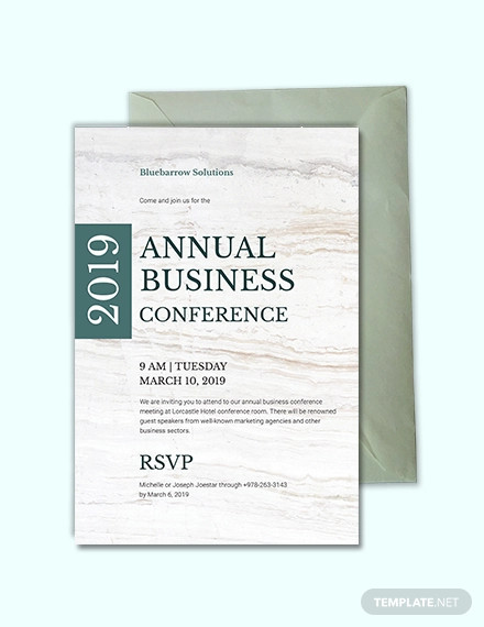 business conference invitation design