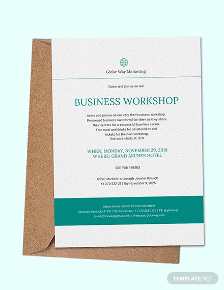 business invitation design