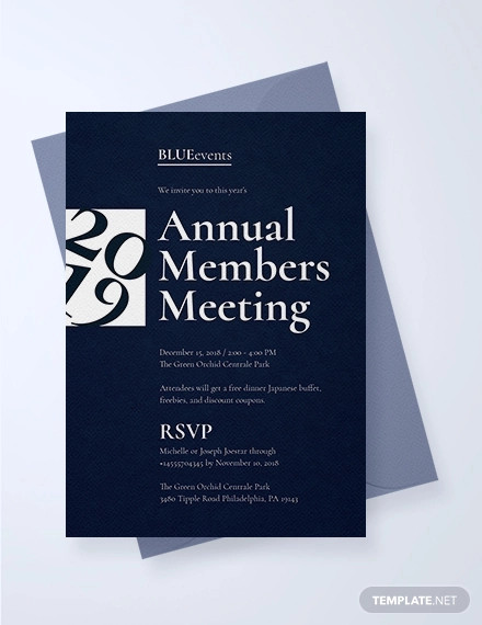 business meeting invitation design template