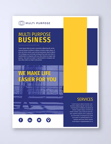multi purpose corporate business flyer