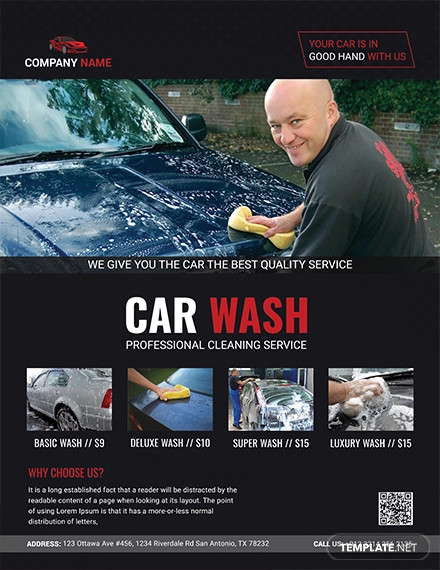 professional car wash flyer template