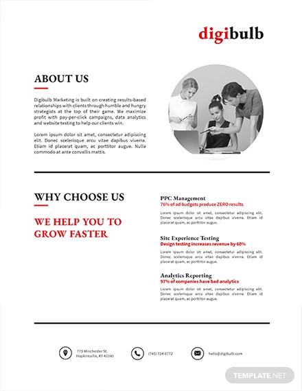 simple marketing flyer