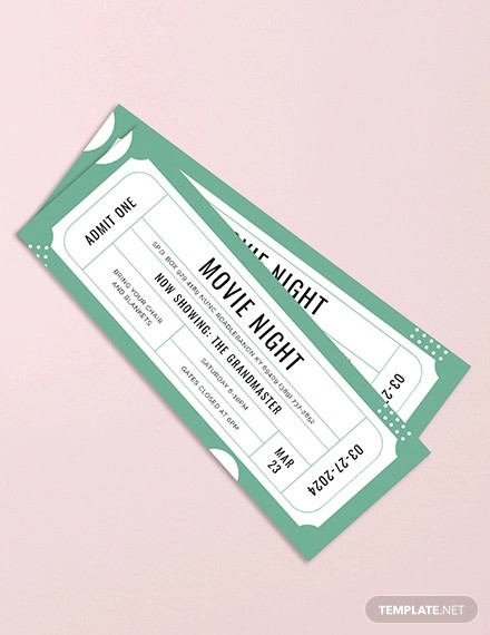 raffle movie ticket design